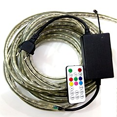 4m / 1stk eu plugconnect ir 19key controller 220-240 førte rgb lys vandtæt lampe bælte 5050 band haven lys rgb