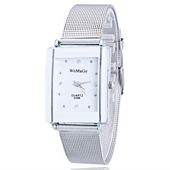 Ladies'/Women's Watch Gold/Silver Steel Thin Band Bike White Case Analog Quartz Imitation Diamond Fashion Wrist Watch