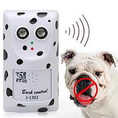 犬 エレクトロニック しつけ用品 超音波 ワイヤレス アンチ犬叫 ホワイト プラスチック
