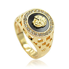 Unisex Fashion Alloy Ring Vintage Hollow Out Personality Statement Rings Diamond-Studded Casual/Daily