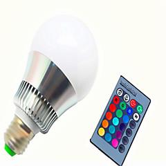 10 E14 / GU10 / E26/E27 LED chytré žárovky G80 1 High Power LED 450-500 lm lm R GB Stmívací / Dálkové ovládání AC 85-265 V 1 ks