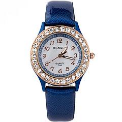 Femme Montre Tendance Montre Bracelet Quartz / Imitation de diamant Strass Polyuréthane Bande Cool Pour tous les joursNoir Blanc Bleu