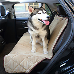 Köpek Araba Koltuğu Kılıfı Evcil Hayvanlar Mat & Pedler Su Geçirmez Katlanabilir Siyah Bej Kahverengi