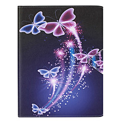 For Kortholder Etui Heldekkende Etui Sommerfugl Hard PU-lær Apple iPad Air 2 / iPad Air