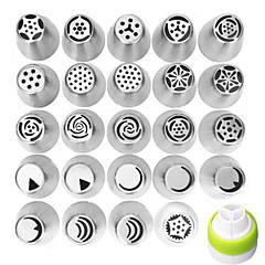 24Pcs DIY Russian Icing Piping Nozzles Tips Cake Decorating Pastry Baking Tool