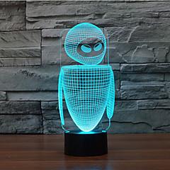 robot aanraking dimmen 3D LED 's nachts licht 7colorful decoratie sfeer lamp nieuwigheid verlichting kerstverlichting