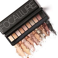 10 Paleta de Sombras Secos / Mate / Brilho / Mineral Paleta da sombra Pó NormalMaquiagem Esfumada / Maquiagem para o Dia A Dia /