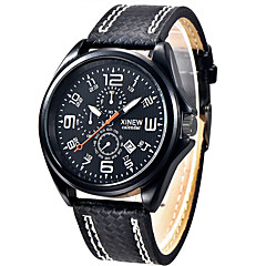 Man Watches Sale Men's Sports Watch Army Wristwatch Leather Watches for Men Military Quartz Clock Gift for a Man