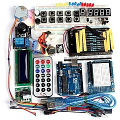 funduino geavanceerde starter kit lcd servomotor dot matrix broodplank geleid basiselement pak compatibel voor Arduino