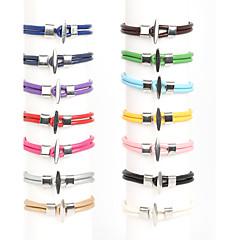 Heren Wikkelarmbanden Lederen armbanden Modieus Dubbele laag Kostuum juwelen Leder Nylon Legering Lijnvorm Sieraden Voor Dagelijks