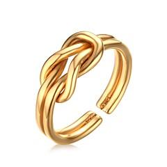 AnéisFashion Casamento / Pesta / Diário / Casual Jóias Aço Inoxidável / Chapeado Dourado Feminino 6 / 7 / 8 1pç,Anéis GrossosDourado /