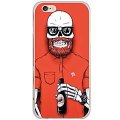 Για Θήκη iPhone 6 / Θήκη iPhone 6 Plus Με σχέδια tok Πίσω Κάλυμμα tok Κρανίο Σκληρή PC AppleiPhone 6s Plus/6 Plus / iPhone 6s/6 / iPhone