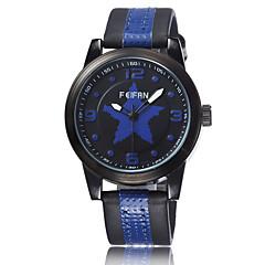 FeiFan Fashion Men's Business Dress Watch Leather Strap Pentagram Casual Analog Quartz Wrist Watches