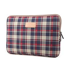 15 '' motif à carreaux sac 13 '' 14 '' ordinateur portable de manchon de protection (couleurs assorties)