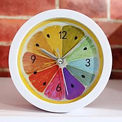 Ny stil landdistrikterne kølig citron frugt vækkeur moderne minimalistiske desktop ure doven ur ur