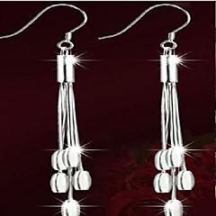 Χωρίς Πετράδι Circle Shape Κρεμαστά Σκουλαρίκια Κοσμήματα Γυναικεία Φούντες Μοντέρνα Πάρτι Καθημερινά Causal Ασήμι Στερλίνας Επάργυρο1