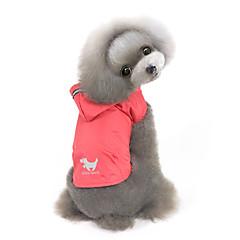 Perros Saco y Capucha Impermeable Ropa para Perro Invierno Primavera/Otoño Un Color A Prueba de Agua Paravientos: Amarillo Rojo Azul