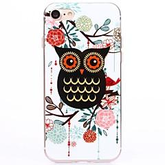 Varten iPhone 7 kotelo / iPhone 6 kotelo / iPhone 5 kotelo IMD Etui Takakuori Etui Pöllö Pehmeä TPU AppleiPhone 7 Plus / iPhone 7 /