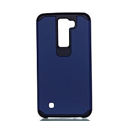 Voor lg k10 k8 schokbestendige behuizing achterkant behuizing vaste kleur harde pc k7 g4 stylus ls770