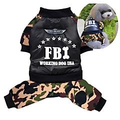 Σκυλιά Παλτά / Σύνολα Χρώμα Παραλλαγής Ρούχα για σκύλους Χειμώνας Αστυνομία/Στρατός Στολές Ηρώων / Διατηρείτε Ζεστό