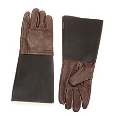 pair beskyttelse koskind læderhandsker hånd for krybdyr keeper