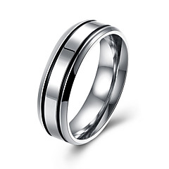 Men's Couple Rings Jewelry Halloween/Casual/Party/Daily Fashion Stainless Steel White 1pc Gift