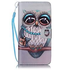 A huawei p9 lite y5ii owl festett kártya stent pu bőr mobiltelefon holster telefon tok a huawei p9 lite y5ii y6ii