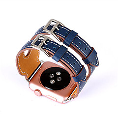 New Double Buckle Cuff Genuine Leather Strap Watch Bands for Apple Watch 1/Series 2