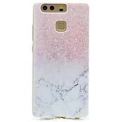 For Transparent Mønster Etui Bagcover Etui Marmor Blødt TPU for HuaweiHuawei P9 Huawei P9 Lite Huawei P9 Plus Huawei P8 Lite Huawei Honor