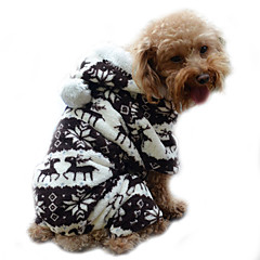Σκύλος Φούτερ με Κουκούλα Φόρμες Πυτζάμες Ρούχα για σκύλους Χαριτωμένο Διατηρείτε Ζεστό Τάρανδος Γκρίζο Καφέ Μπλε Ροζ