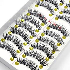 20 ögonfransar Hela ögonfransar Ögonfrans Korsvis Naturligt långa Förlängda Lyfta ögonfransar Volym Naturlig Handgjord Fiber