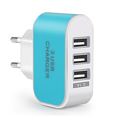 Universal Travel USB Charger Adapter Wall Portable EU Plug Mobile Phone Smart Fast Charger for IPhone Samsung Huawei Xiaomi (5V 3.1A)