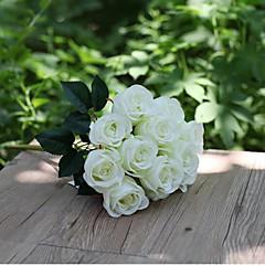 Set of 1 PCS 1 şube Polyester Güller Masaüstü Çiçeği Yapay Çiçekler Long 15.7(inch)