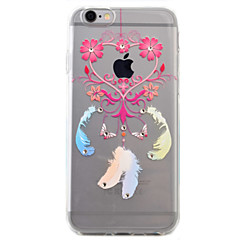 For iPhone 6 Case / iPhone 6 Plus Case Transparent / Pattern Case Back Cover Case Feathers Soft TPU AppleiPhone 6s Plus/6 Plus / iPhone
