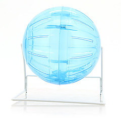 Plastic Exercise Rolling Ball Roll About Toy with Stand for Rat Hamster Mouse
