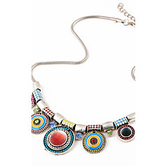 Splendid Womens Bib Statement Necklace Luxury Colorful Rhinestone Geometric Chunky Necklace Jewelry