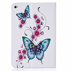 For Kortholder / Med stativ / Flip / Mønster Etui Heldækkende Etui Sommerfugl Hårdt Kunstlæder Apple iPad Mini 4 / iPad Mini 3/2/1
