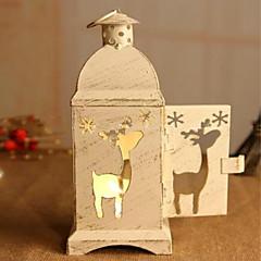 helyreállítása ősi módon karácsonyi angyalok facsemeték gyertyatartó kovácsoltvas viharlámpa lakberendezési cikkek 19 * 7 * 7 cm
