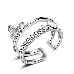 Gyűrűk Sexy Crossover Divat Állítható Imádni való Multi-módon kell viselni Esküvő Parti Napi Hétköznapi Ékszerek Ezüst NőiMidi gyűrűk
