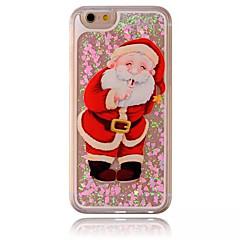 For iPhone 7 Case / iPhone 6 Case / iPhone 5 Case Flowing Liquid / Transparent / Pattern Case Back Cover Case Christmas Hard PC Apple