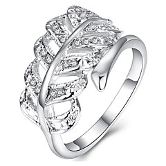 Ring AAA Cubic Zirconia Silver Plated Fashion Silver Jewelry Party Halloween Daily 1pc