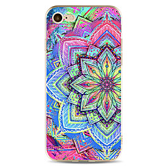 For Apple iPhone 7  6S Case Cover Colorful Flowers Pattern Painted TPU Material Soft Package Phone Case