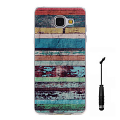 For Samsung Galaxy A5(2016) A3(2016) Case Cover Color Stripes Pattern Super Soft Painting TPU Material Phone CaseTouch Screen Pen