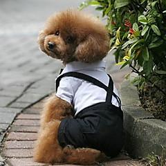 Perros Disfraces Esmoquin Negro Ropa para Perro Invierno Primavera/Otoño Bloques Boda Cosplay