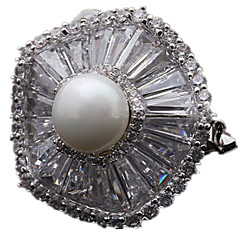 Women's Brooches Pearl Gold Silver Golden Jewelry Daily