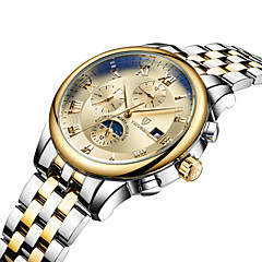 Heren Dames Voor Stel Sporthorloge Skeleton horloge Modieus horloge mechanische horloges Kwarts Automatisch opwindmechanismeKalender