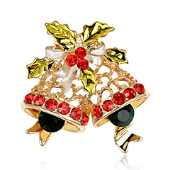 Damen Broschen Strass Chrismas Regenbogen Schmuck Party Halloween Normal