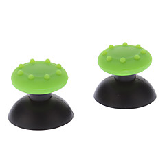 Udskiftning 3D Rocker Joystick Cap Shell Mushroom Caps til PS3 Wireless Controller + Antislip Rubber