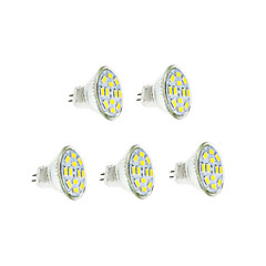 6W GU4(MR11) LED Filament Bulbs 12 SMD 5730 570 lm Warm White / Cool White DC 12 V 5 pcs