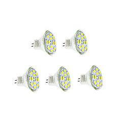 6W GU4(MR11) Lâmpadas de Filamento de LED 12 SMD 5730 570 lm Branco Quente / Branco Frio DC 12 V 5 pçs